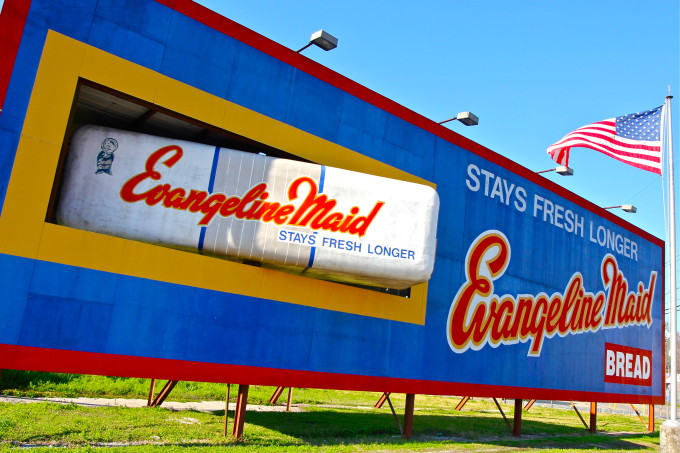 The iconic, rotating Evangeline Maid Sign