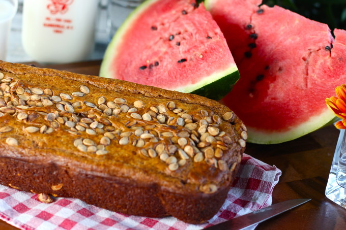 Watermelon bread--one of my favorite Cajun recipes.