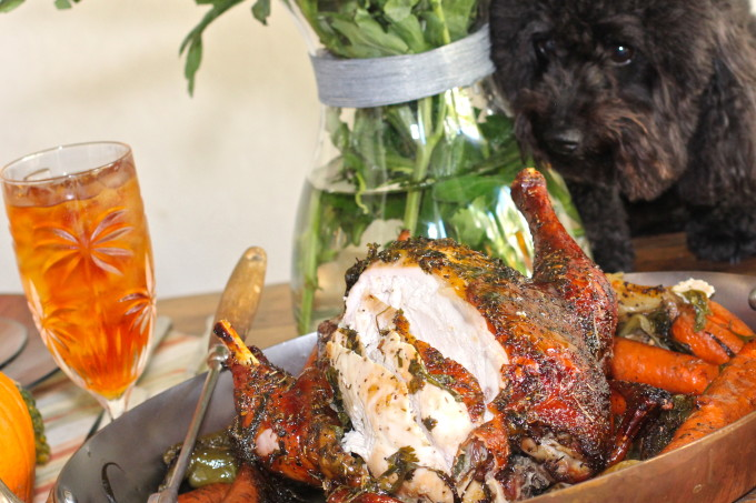 My Cajun recipe for Roast Chicken at the table
