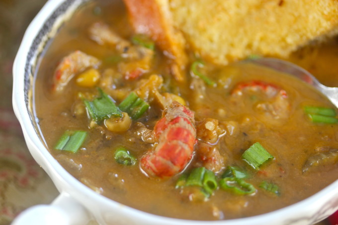 Crawfish and Pumpkin Bisque with Cajun recipe ingredients