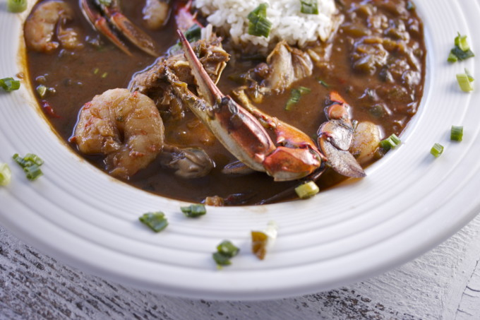 Seafood Gumbo: on of the most popular Cajun recipes from the coastal region of Louisiana.