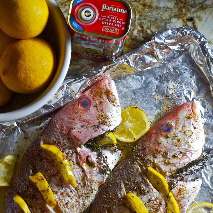 Whole Roasted Red Snapper is a favorite seafood dish along the Gulf coast.