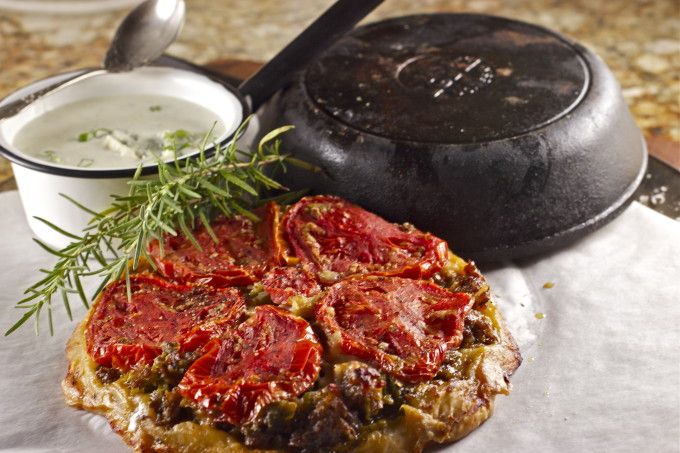 Louisiana cooking at its best: Creole Tomato and Sausage Pie