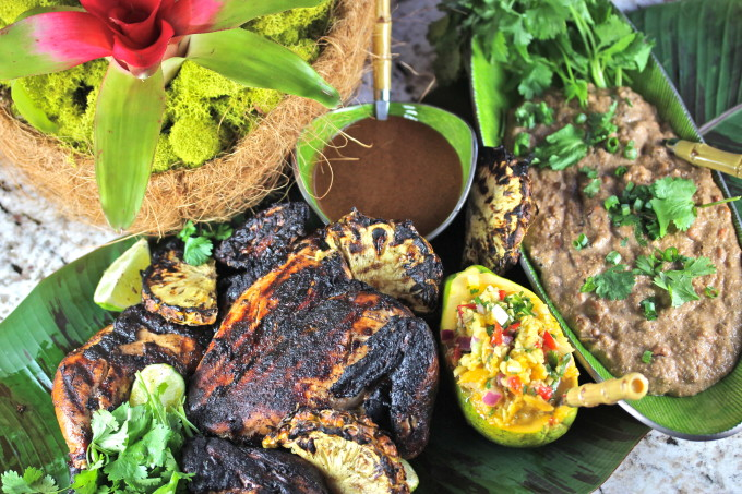 Creole Jerk Chicken recipe, the closest thing to a Cajun recipe in the islands.