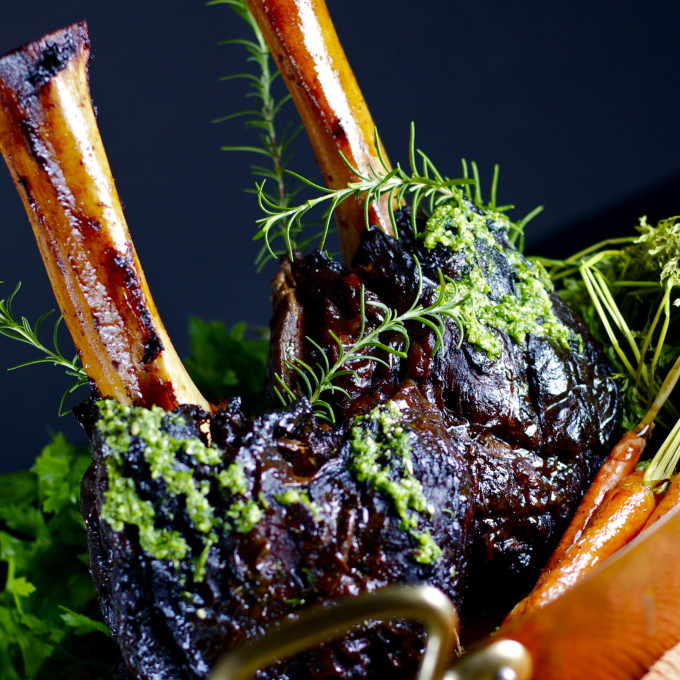 Braised Beef Shanks is a Cajun recipe.