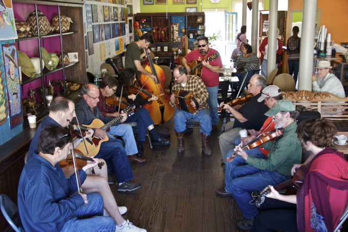 On Saturday mornings in downtown Breaux Bridge you can find French music being played.