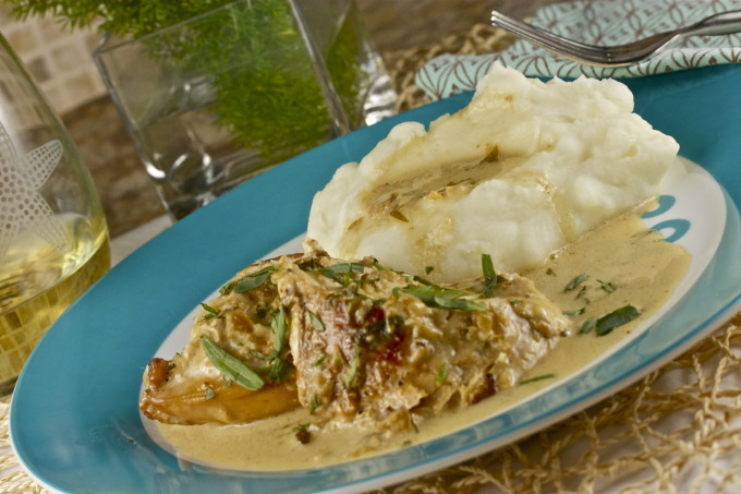 Chicken Braised in Tarragon Cream is a new classic Cajun recipe.