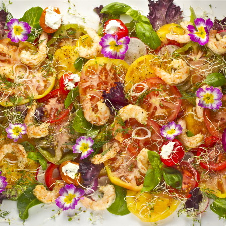 Nature's Canvas: Spring Harvest Salad with Creole Mustard Vinaigrette