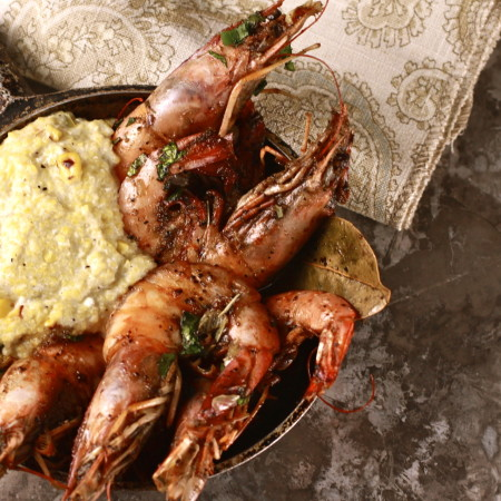Louisiana Shrimp and Roasted Corn Grits