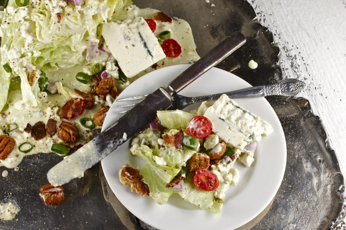 Iceberg wedge with pecans and bacon make this a Cajun recipe for salad perfection.