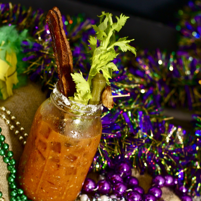Blackened Bloody Mary--a popular Cajun recipe.