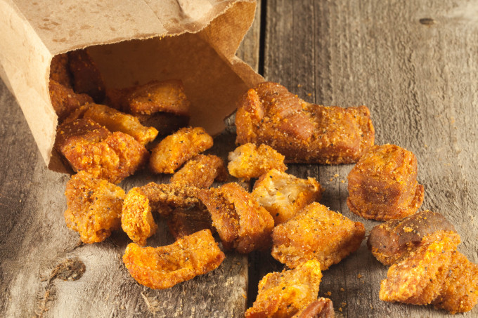 Bag of Cracklins--a popular Cajun recipe.