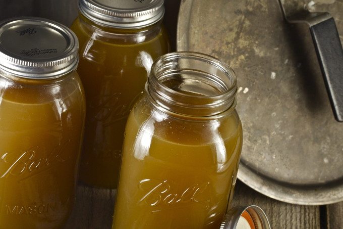 Dark chicken stock - the magic elixir in every Cajun recipe. (All photos credit: George Graham)