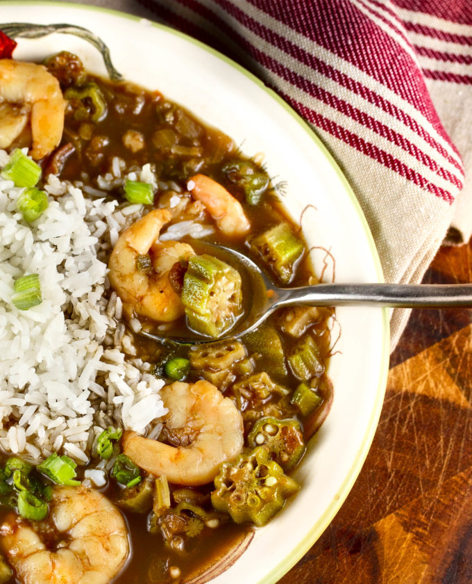Shrimp and Okra Gumbo is a recipe that links the cultures of Louisiana.
