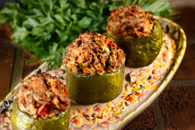 Chicken-Stuffed Bell Peppers is a new Cajun recipe classic.