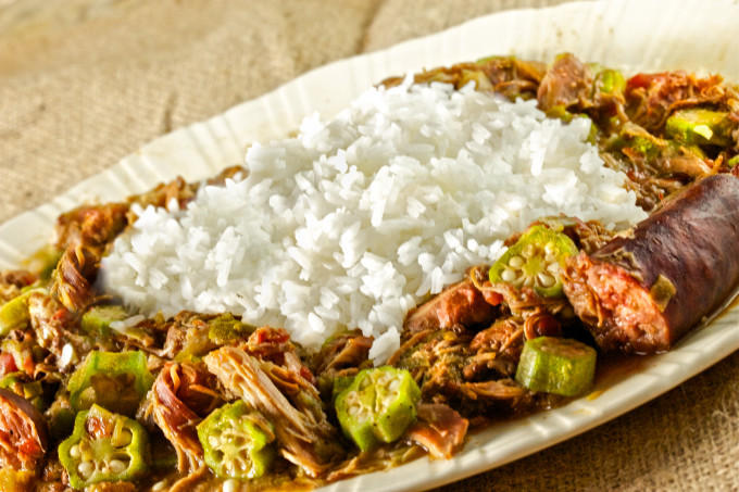 Okra and chicken is a Cajun recipe classic.