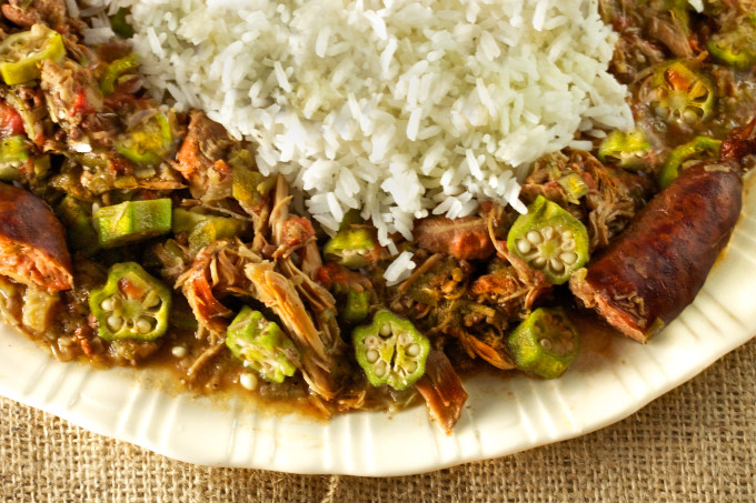 Okra and Rice combine in this Cajun recipe.