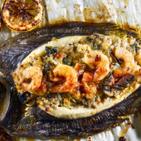 Stuffed Whole Flounder