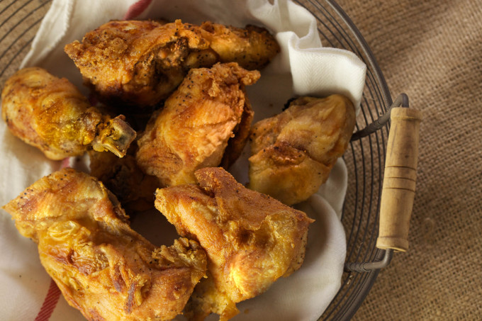 Peggy's Skillet Fried Chicken is moist and juicy on the inside and golden brown crispy on the outside.