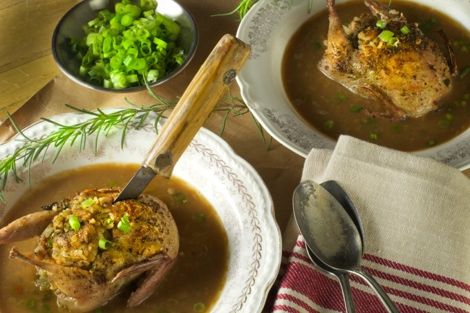 Stuffed Quail Gumbo is a classic Cajun recipe.