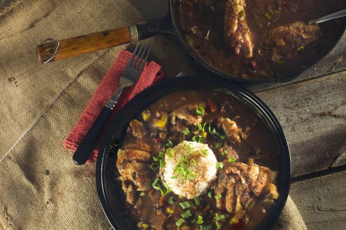 Catfish Courtbouillion is a classic Cajun recipe.