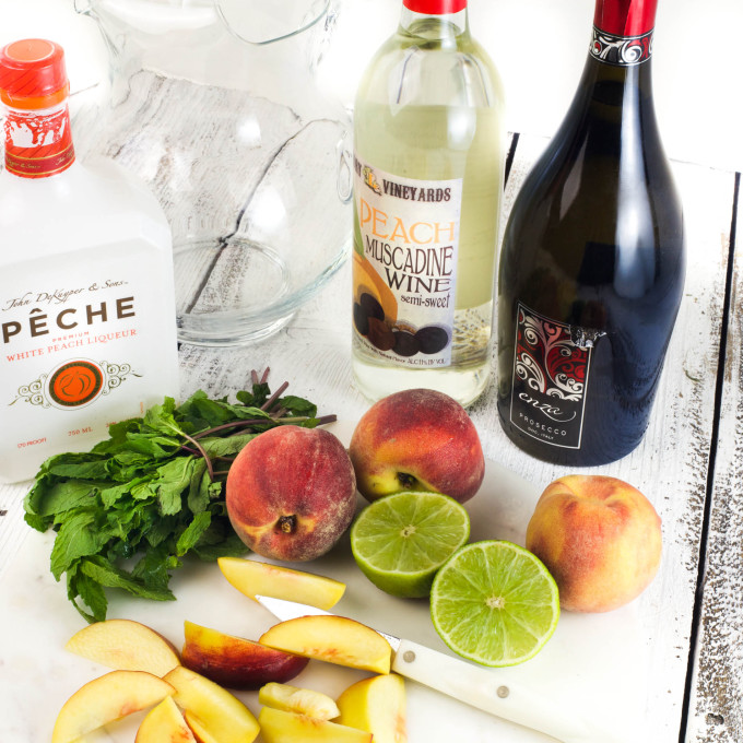 Peach Muscadine wine makes thisPeach Muscadine Sangria a Cajun recipe.