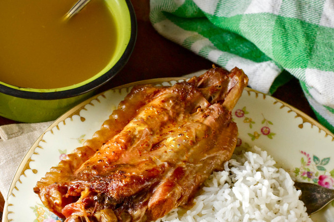 Stuffed turkey wings with rice and gravy -- a Creole favorite and a great Cajun recipe, too. (All photos credit: George Graham)