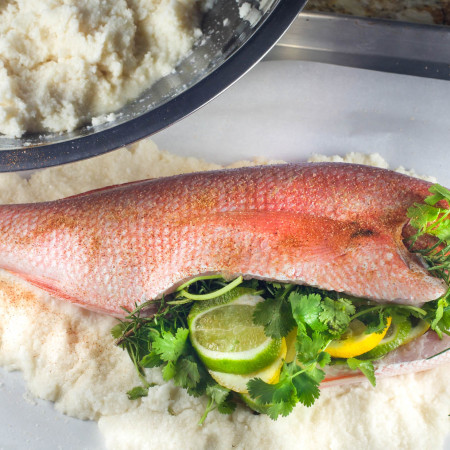Salt-Encrusted Red Snapper
