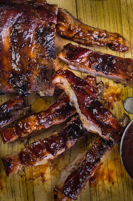 Sweet and sticky, these sugarcane-glazed spareribs are a backyard Cajun recipe.