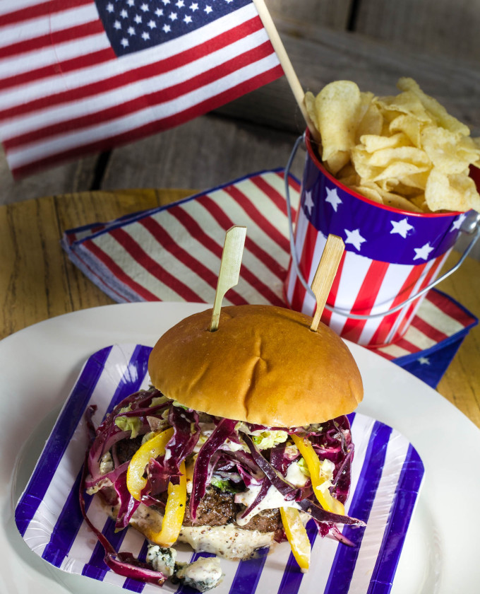 It's a red, white and Bluesiana holiday with this Cajun recipe for my Bluesiana Burger.