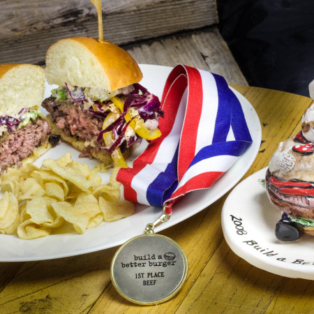 This award-winning burger is perfect for your July 4th cook-out.  (All photos credit: George Graham)