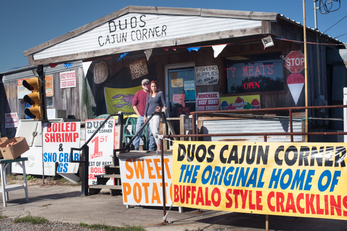 You can find most anything for a Cajun recipe at Duos, including smoked meat artisan Jean Duos and his beautiful wife.