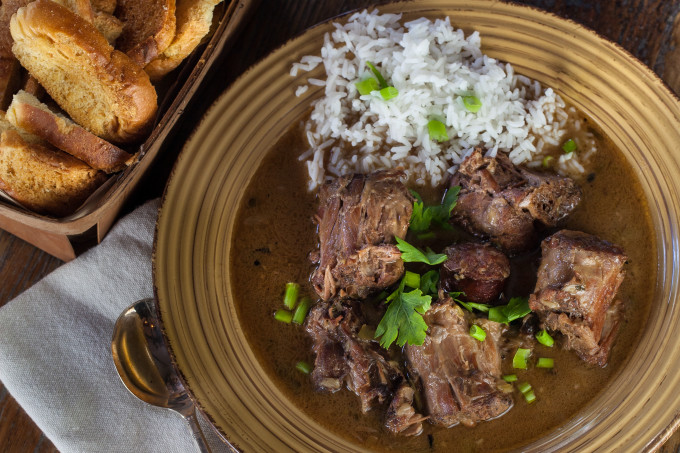 Smoked Turkey Neck Gumbo is a classic Cajun recipe. (All photos credit: George Graham)
