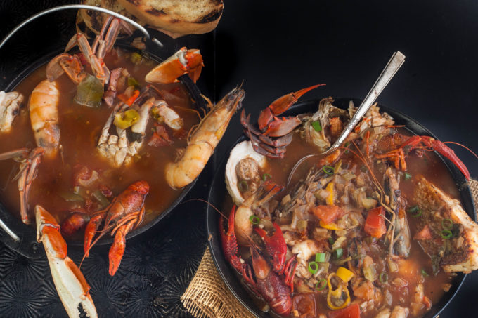 Louisiana seafood and Creole tomatoes combine in this Creole Cioppino - a South Louisiana fish soup. (All photos credit: George Graham)