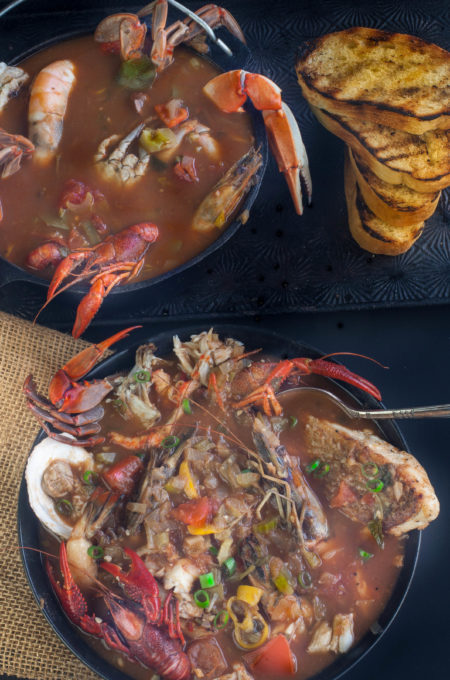 South Louisiana meets San Francisco in a tasty bowl of Creole Cioppino -- a tasty Cajun recipe. South Louisiana meets San Francisco in a tasty bowl of Creole Cioppino.