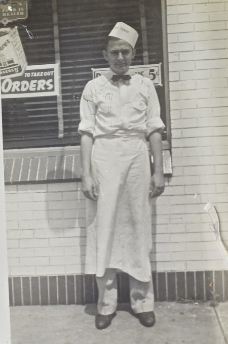 George Graham, Sr., my father, flipping burgers in the forties.