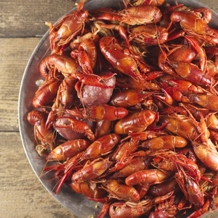 For some, tackling a platter of steaming hot boiled crawfish is unfamiliar territory. (All photos credit: George Graham)