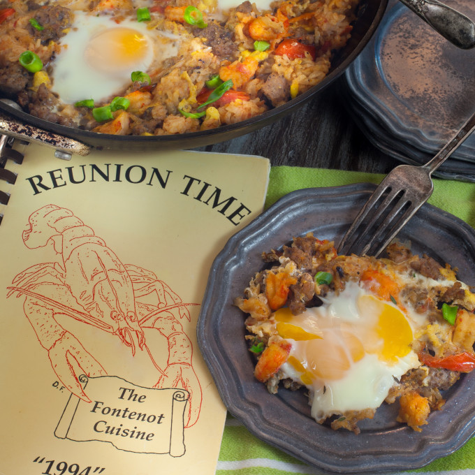 This old reunion cookbook stirs up memories in a black iron pot with a treasure trove of Cajun recipes.