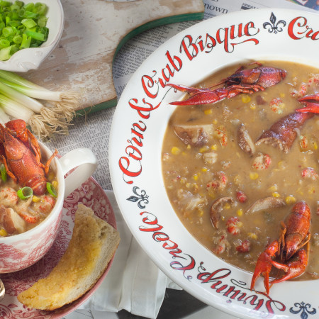 Thick and spicy chowder with the flavor of a Louisiana crawfish boil.  (All ppbotos credit: George Graham)