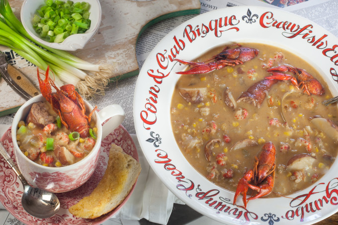 Crawfish Boil Chowder: Thick and spicy chowder with the flavor of a Louisiana crawfish boil--a tasty Cajun recipe. (All ppbotos credit: George Graham)