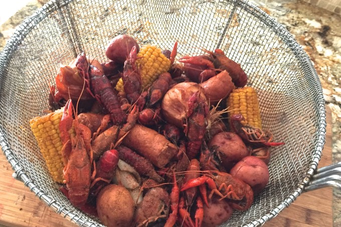Boiled and seasoned to perfection, and just waiting for my Crawfish Boil Chowder recipe.