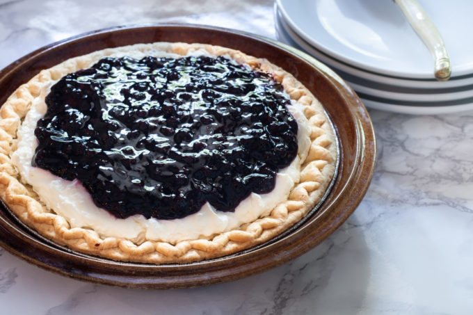 The pie shell is the only thing that bakes in this Blueberry Cream Pie and makes this a candidate for the world's easiest dessert and a sweet Cajun recipe.