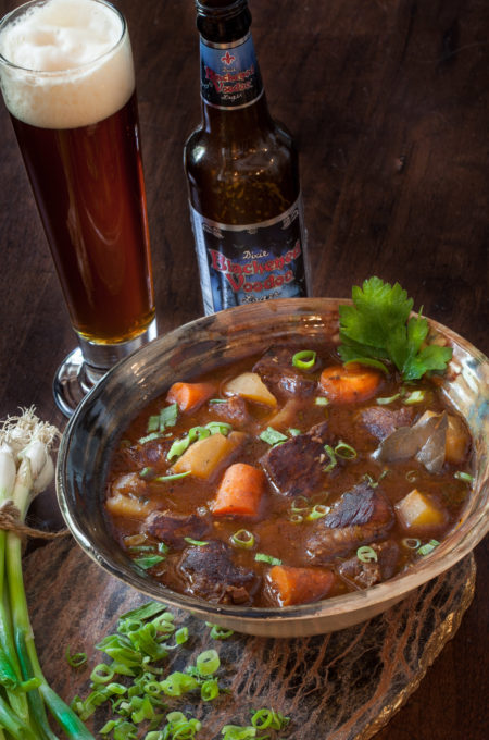 Paired perfectly with a dark beer, this Blackened Voodoo Beef Stew is magical in this Cajun recipe.