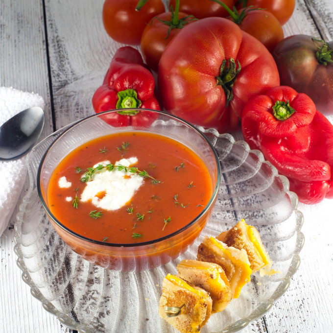 Fresh ingredients are key for this Cajun recipe for tomato soup.