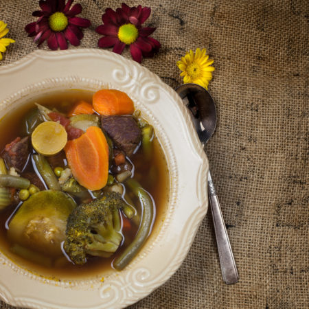 This farm-to-table soup takes advantage of the freshest locally grown vegetables.  (All photos credit:  George Graham)