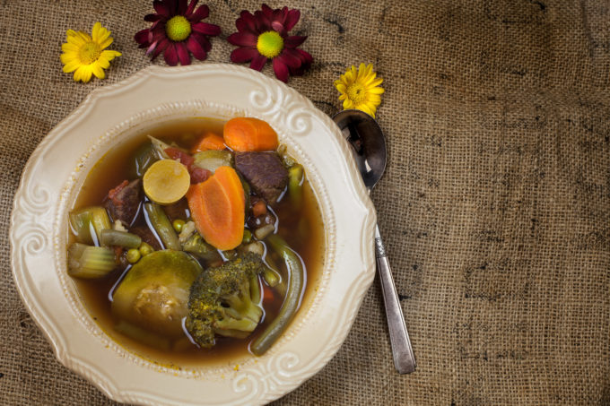 This farm-to-table Pure Vegetable Soup takes advantage of the freshest locally grown vegetables in this Cajun recipe. (All photos credit: George Graham)