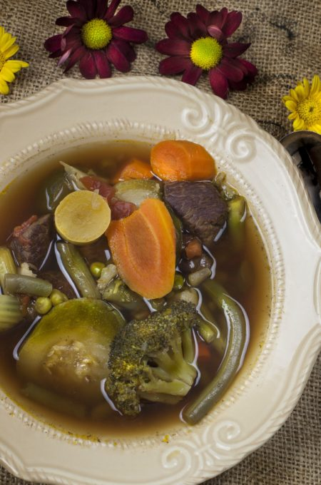 Pure comfort in a Pure Vegetable Soup recipe.