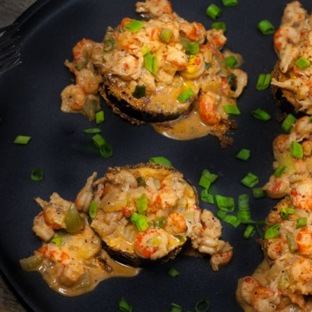 Fried Eggplant with Crawfish Étouffée