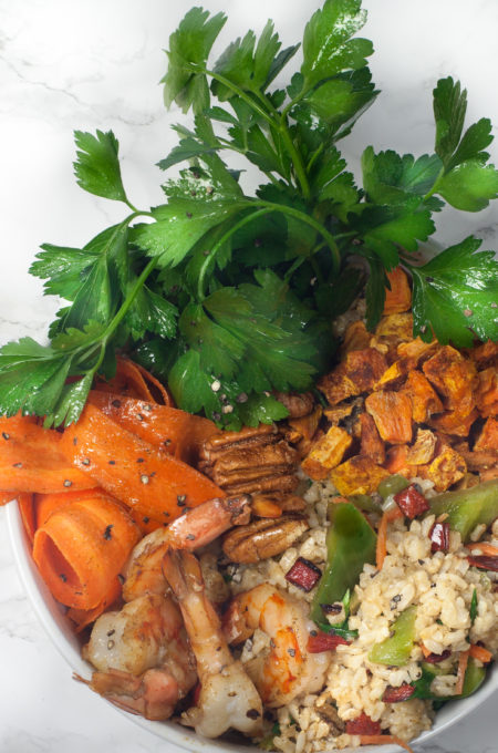 A healthy bowl of flavor in this Cajun Rice Bowl recipe.