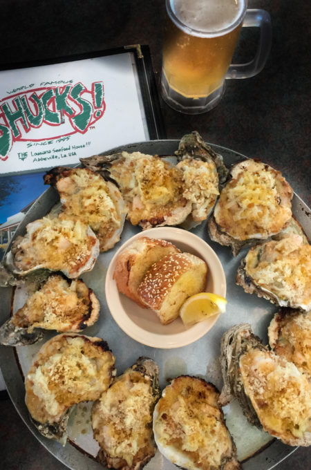 The Oysters Supreme at Shucks in Abbeville are heaven on a half shell. Try this Cajun recipe.
